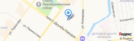 Абаканская компьютерная помощь профессионалов на карте Абакана