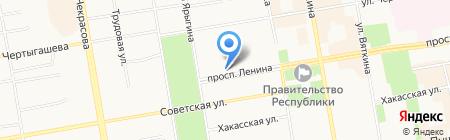 Ярмарка из Москвы на карте Абакана