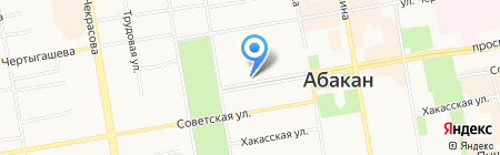 Магазин цветов на проспекте Ленина на карте Абакана
