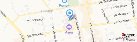 Гламурики на карте Абакана