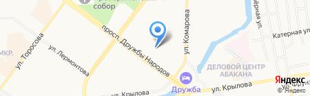Почтовое отделение №16 на карте Абакана