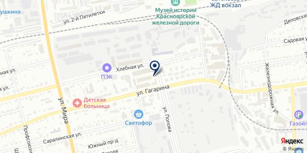 Бустон на карте Абакане