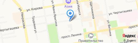 Главный займ на карте Абакана