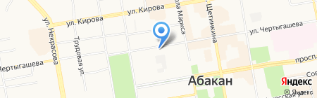 Радуга на карте Абакана