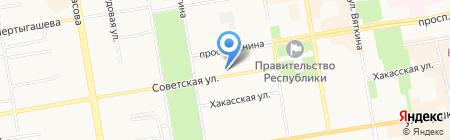 Аптека №58 на карте Абакана