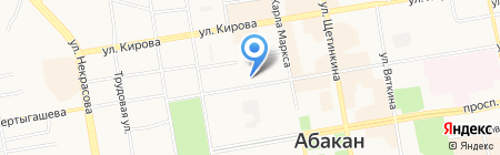 Аспект на карте Абакана