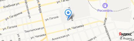 Ленточка на карте Абакана