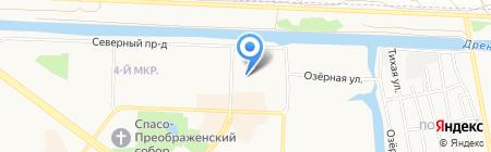 Центральная городская библиотека на карте Абакана