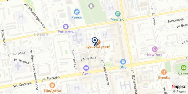 Бумеранг на карте Абакане