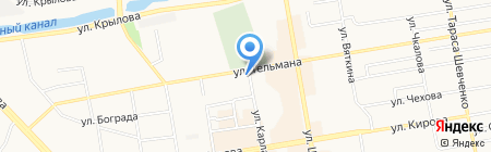 Министерство спорта на карте Абакана