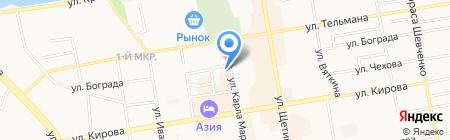 ТТК Сибирь на карте Абакана