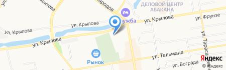 Территориальный центр медицины катастроф Республики Хакасия на карте Абакана
