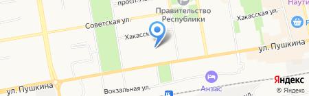Автобистро на карте Абакана