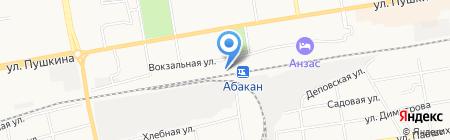 Спутник на карте Абакана
