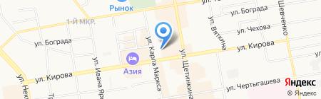 Центральная баня на карте Абакана