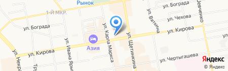 Мясная ярмарка на ул. Кирова на карте Абакана