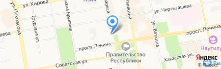 Технология на карте Абакана