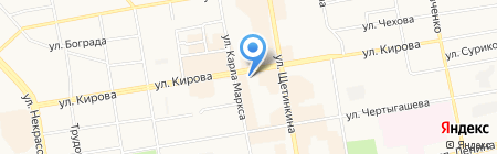 Юг Сибири на карте Абакана