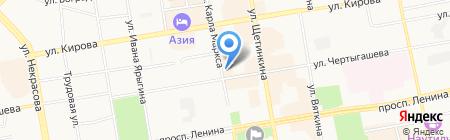 Мясной дворик на карте Абакана