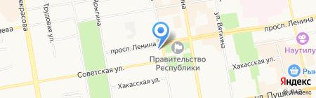 Прямой эфир на карте Абакана