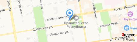 ЭКСПЕРТ ПЛЮС на карте Абакана