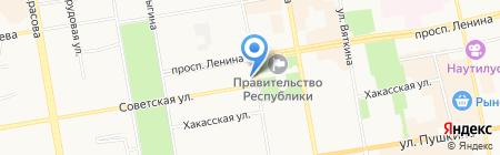 Власта-Хакасия на карте Абакана