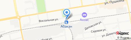 Железнодорожный вокзал на карте Абакана