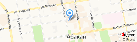 Хакасское Кредитное Агентство на карте Абакана