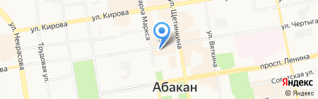 Акцент на карте Абакана
