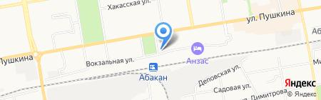 На Вокзальной на карте Абакана