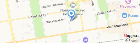 Амели на карте Абакана