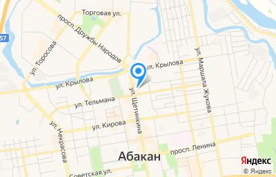 Местоположение на карте пункта техосмотра по адресу г Абакан, ул Енисейская, д 75