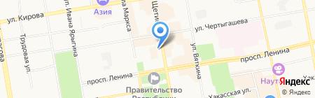 Домашний педагог на карте Абакана