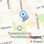 Недвижимость Бугаевой на карте Абакана