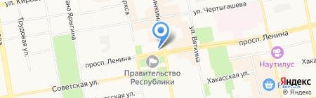 Недвижимость Бугаевой.ЦПА на карте Абакана