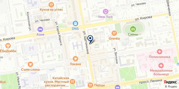 ТЕСТ-АЗТ на карте Абакане