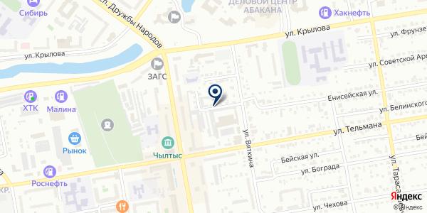 G`PARTSIMPORT на карте Абакане