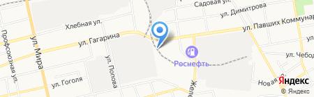 Автошпион на карте Абакана