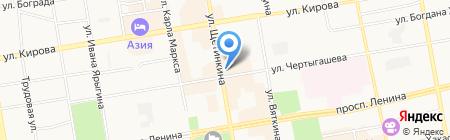 Магазин цветов на ул. Чертыгашева на карте Абакана