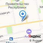 Красноярская железная дорога на карте Абакана