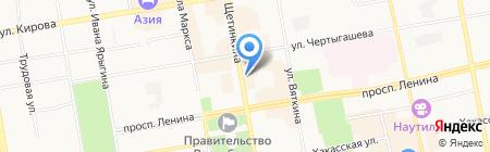 Центр судебных споров на карте Абакана