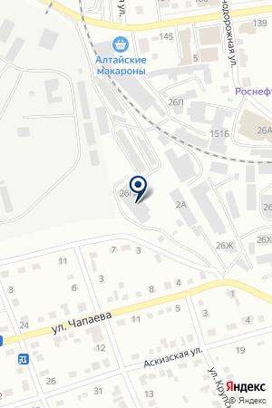 Автострада на карте Абакана