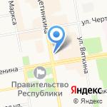 Почтовое отделение №5 на карте Абакана