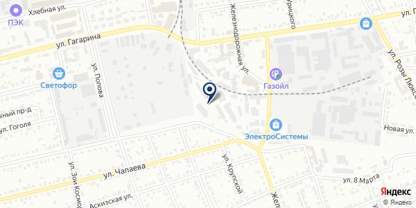 Автострада на карте Абакане
