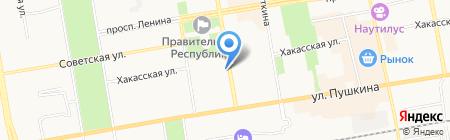 УЖК на карте Абакана