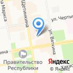 Управление Министерства юстиции РФ по Республике Хакасия на карте Абакана