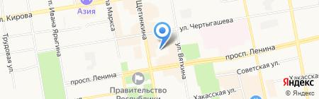 Комплексная ДЮСШ на карте Абакана