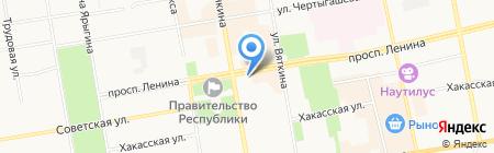 Дом литераторов Хакасии на карте Абакана
