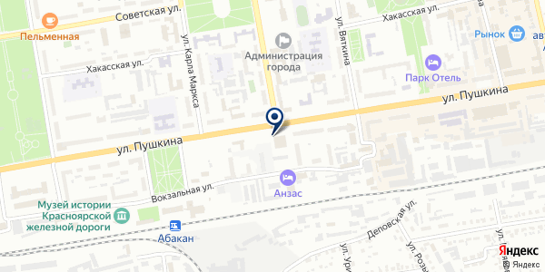 КОМАНДОР на карте Абакане