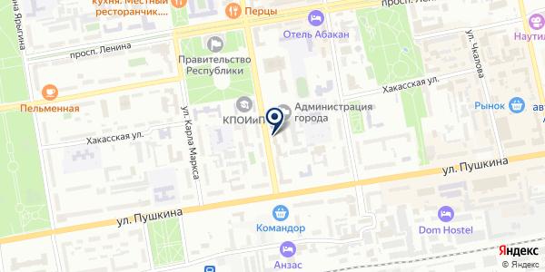 Отдел участковых уполномоченных полиции на карте Абакане